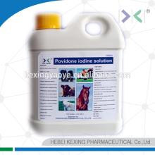 Solution 10% d'iodine povidone animale