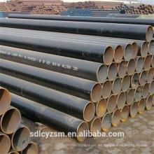 Tubo de acero ERW soldado con autógena negro de la tubería / tubo de acero del negro ERW