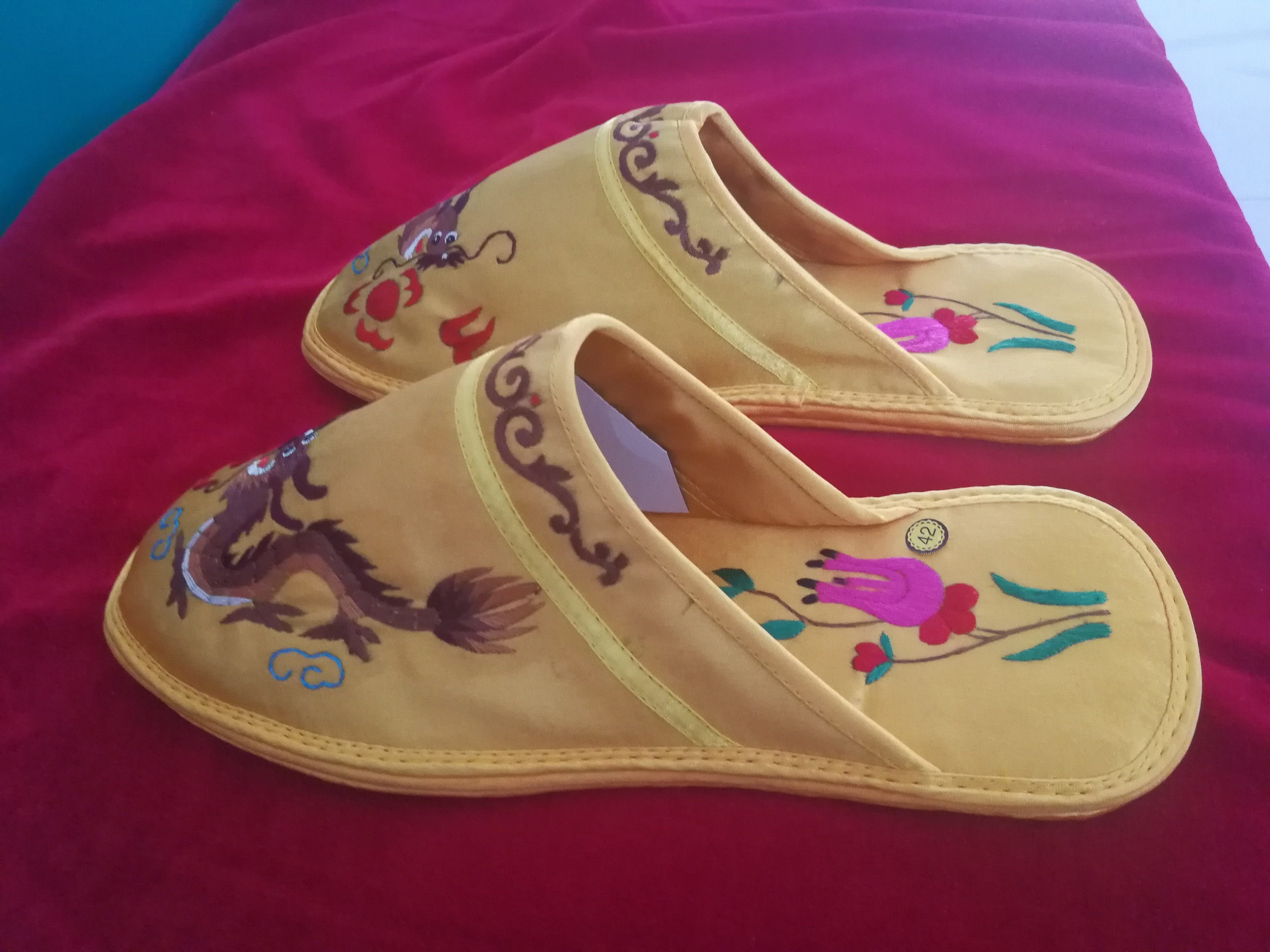 hand embroidered slipper