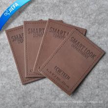 Parche de cuero en relieve personalizado de la prenda