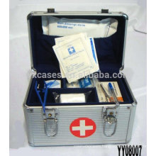 silver aluminum medical box with 2 styles