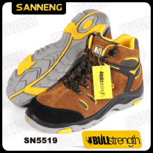 PU/Rubber Outsole Suede Leather Working Boot with Steel Toe (SN5519)