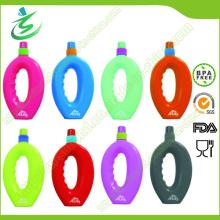 500ml botella de agua plegable libre de los deportes de BPA con la etiqueta privada