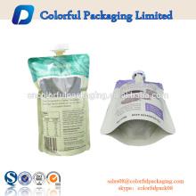 2016 bolso de empaquetado superior 10 soporte para arriba que empaqueta para la bolsa de plástico de la bebida con la impresión