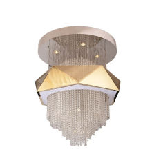 Home Decorative Modern Lighting Gold Stainless Steel Lamp Body Crystal Glass Chandelier