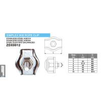 Simplex Draht Seil Clips Serie für Marine Hardware