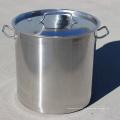 India Estilo Bom Polimento De Aço Inoxidável Grande 98L Panelas Soup Pot Pot / Panela Quente