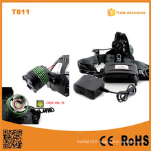 T811 New Xml T6 10W LED Head Lights Lamp Camping&Hiking Aluminum Alloy Headlamp