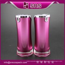 SRS acrílico cor roxa 15ml 30ml garrafa de soro cosmético de luxo de plástico 50ml