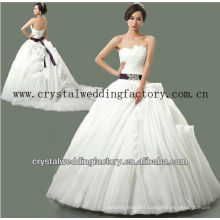2014 luxurious strapless beaded custom-made real samples ruffled skirt ball gown wedding dresses CWFaw5578