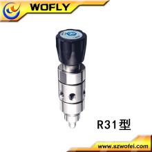 Stainless steel gas pressure regulator