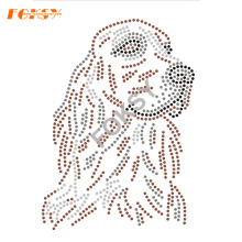Rhinestone Iron On Transfer Dog Designs For Clothing