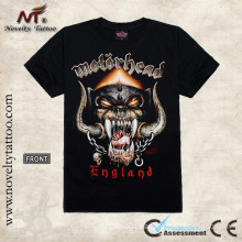 T100162 Motor Head Tattoo Design - Black Tattoo Tshirt