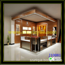 High End Jewelry Shop Decoration Wooden Jewelry Mall Kiosk Design (C10118)