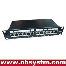 "12 portas STP Cat.6 Patch Panel 10 ""1U, Krone IDC"