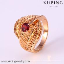 Anillo de mujer de moda 12211 Xuping con chapado en oro de 18 quilates