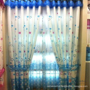 cute cartoon printing sheer curtain fabric