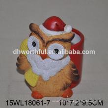 Spezialisierte Weihnachten Eule Keramik Blume Vase