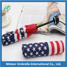 Paraguas de la bandera de América de la impresión de cuatro colores