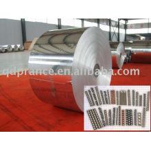 Feuille d'aluminium pour emballage de câble