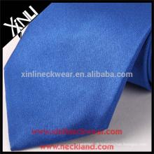 100% fait main noeud parfait polyester gros chinois cravates bleu