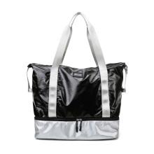 Expandable Contrast Color Waterproof Sports Gym Bag Women Shoulder Duffel Bag Fitness Yoga Bag