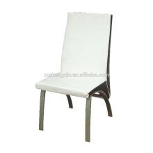 Moderner weißer Esszimmerstuhl, Metallstuhl Rückenlehne für Hotel