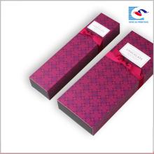 La última caja de lujo del chocolate de la cartulina de encargo del diseño con la cinta del arco