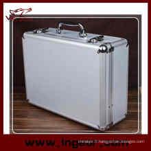 Outil case 28 cm aluminium alliage Mallette pour étui à fusil pistolet