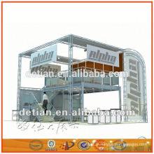 Fabricante de Xangai OEM moderno dois andar design da cabine de exposição, sistema de exibição de exibição de design