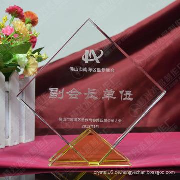 Personalisierte K9 Kristallglas Awards Trophy für Business-Geschenke