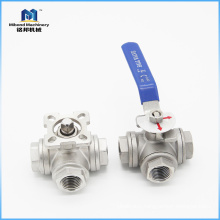 "Stainless Steel 304 Dn15 G1/2"" Female L Type 3 Way Ball Valve"