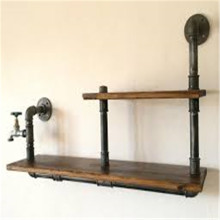Casa de fazenda Industrial Pipe Bench Farmhouse Furniture