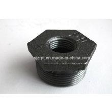 1-1 / 4 * 1/2 Acoplamiento de tubo de hierro maleable de manguito negro