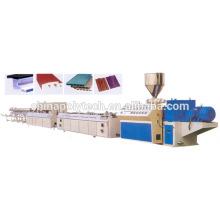 máquina de extrusão de madeira painel composto plástico, plástico de ISO 9001 decks máquina