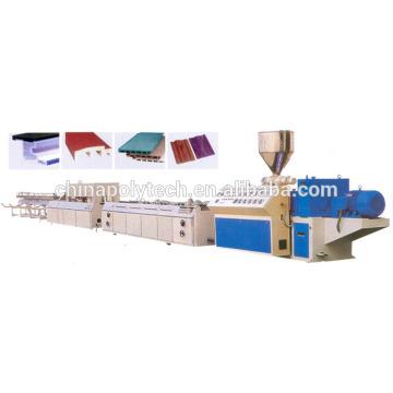 wood plastic composite panel extrusion machine ,ISO 9001 plastic decking machine