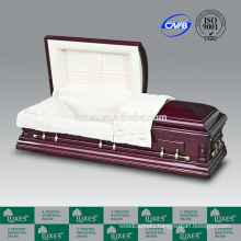 China Casket Manufacturers LUXES Thearts American/US Style Oversize Funeral Casket