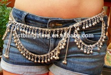 Sexy Belly dance dance waist chain body jewelry with Gypsy bell