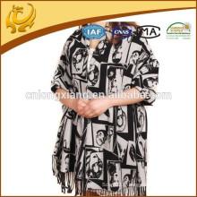 2015 New Style Indian Wide Shawl Echarpes en soie Pure Pashmina Vente en gros pour les femmes