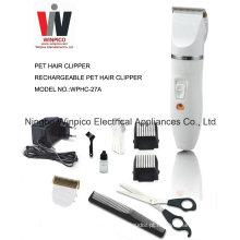 Tosquiadeira de cabelo do animal de estimação recarregável