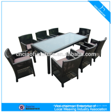 Обеденный набор мебели из ротанга для 8