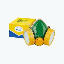 Doppel-Filter-Sauerstoff-Gas-Industrie-Atem-Atemschutzmaske Toxic Air Purifying Carbon Maske