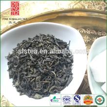 A grande fábrica de chá forneceu tipos de chá verde