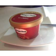 Коробка напечатанная логосом пластичная мороженое (коробка мороженого)