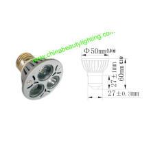 Luz do bulbo do diodo emissor de luz luz do ponto de 3 * 1W E27