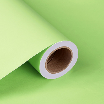 Papel de pared de materiales de pvc en color liso