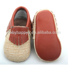 Hochwertige Neugeborene Baby Mokassins Schuhe Jungen Leinwand Baby Schuhe