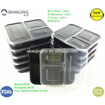 Plastik Nahrungsmittelspeicher- und -verpackungsbehälter microwable mit luftdichtem Deckelmahlzeitvorbereitung Plastikbento-Mittagessenkasten 36oz Plastiknahrungsmittelspeicher- und -verpackenbehälter microwable mit luftdichtem Deckelmahlzeitvorbereitung