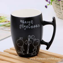 Custom black matte creative ceramic mug