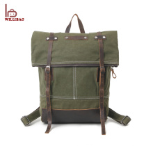 Mochila de viaje de la mochila de la escuela de lona de diseño nuevo